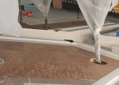 Lederen vloer ABU DHABI, VAE cultural foundation