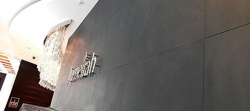 Jumeirah Frankfurt lederen wand