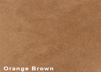SUÈDE Orange Brown lederen vloeren en lederen wanden