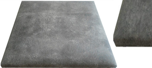Suede leather wallcovering