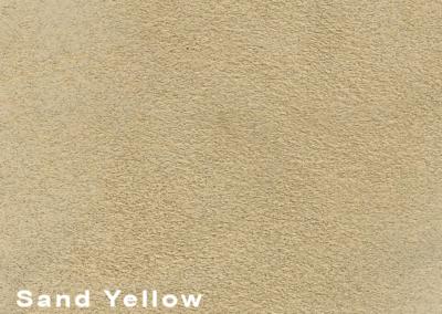 SUÈDE Sand Yellow lederen vloeren en lederen wanden