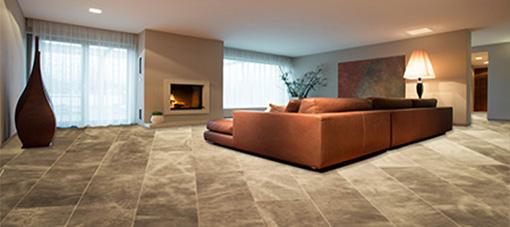 Lederen vloer in een woonkamer, perfecte stijl.