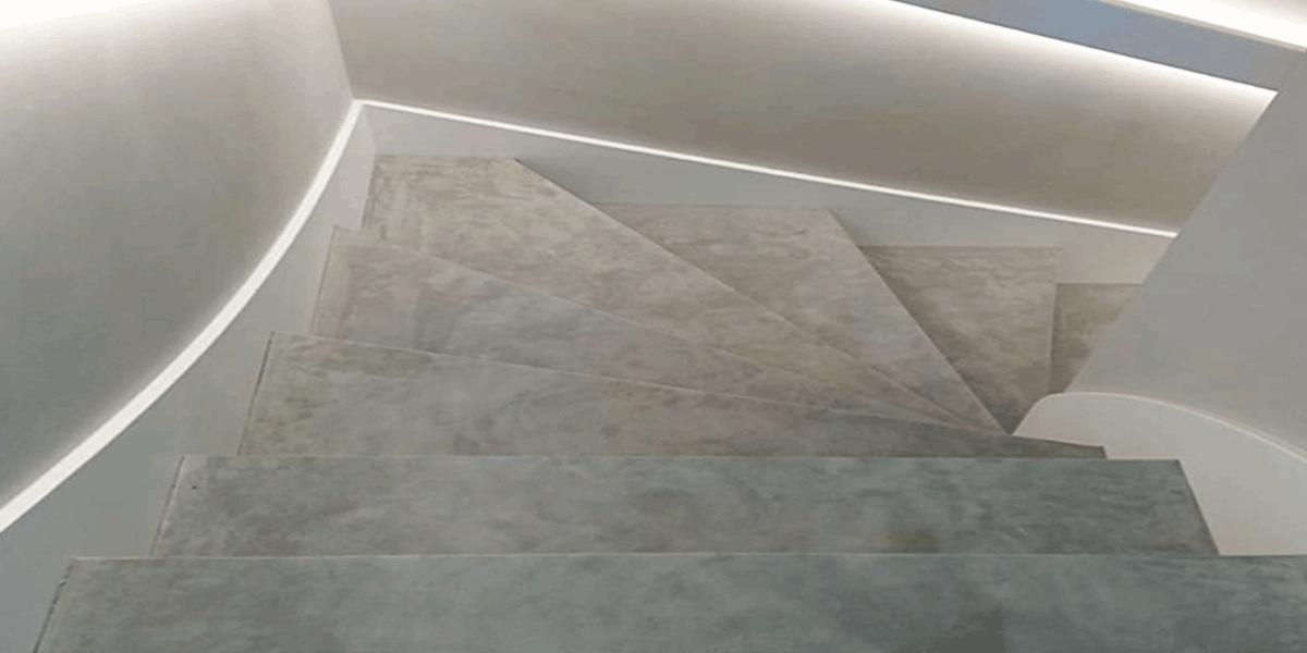 Velourleder Treppe